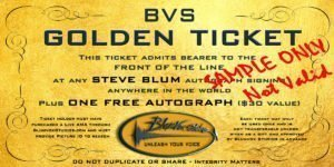 Blumvox Studios Golden Ticket - Ask Steve Blum Anything!