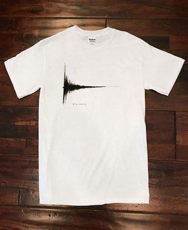 """Bang T-Shirt - Spike's Word """"Bang"""" from Cowboy BeBop. Front White"""