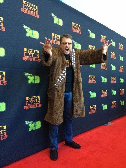 Steve Blum at Star Wars Rebels red carpet screening