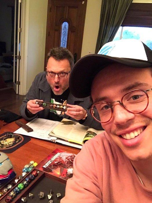Steve Blum and Logic playing D&D