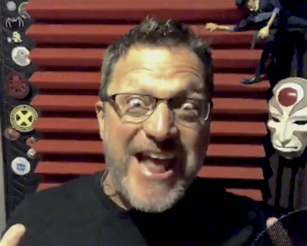 Steve Blum in Booth Voice Coaching