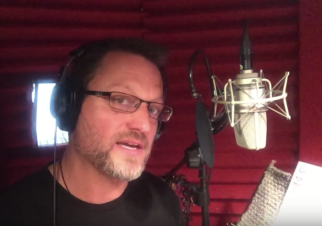 Voice Acting Coach Steve Blum in Booth