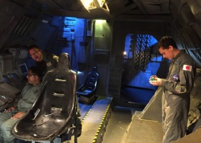Logic, Kevin Randolph, and Steve Blum on the Aquarius III set