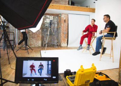 Steve Blum and Logic Interview Image with white backdrop from the side