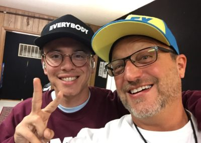 Logic and Steve Blum in hats