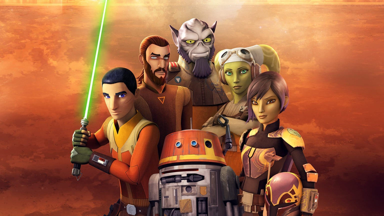 Star Wars Rebels gathered together