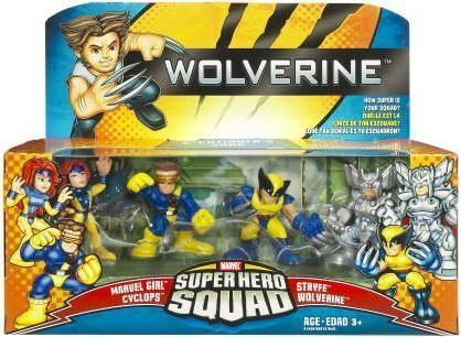 Steve Blum recommends Super Hero Squad figurine set with Wolverine, Marvel Girl, Cyclops, and Stryfe