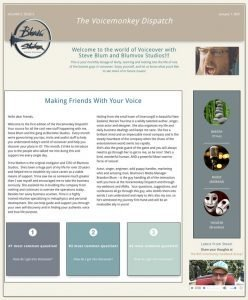 voicemonkey dispatch sample image of our newsletter featuring voice over news and tips