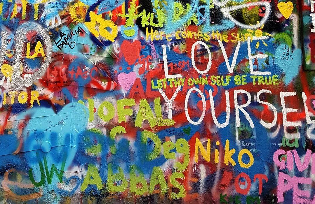 The Gift of No- John Lennon Wall Prague